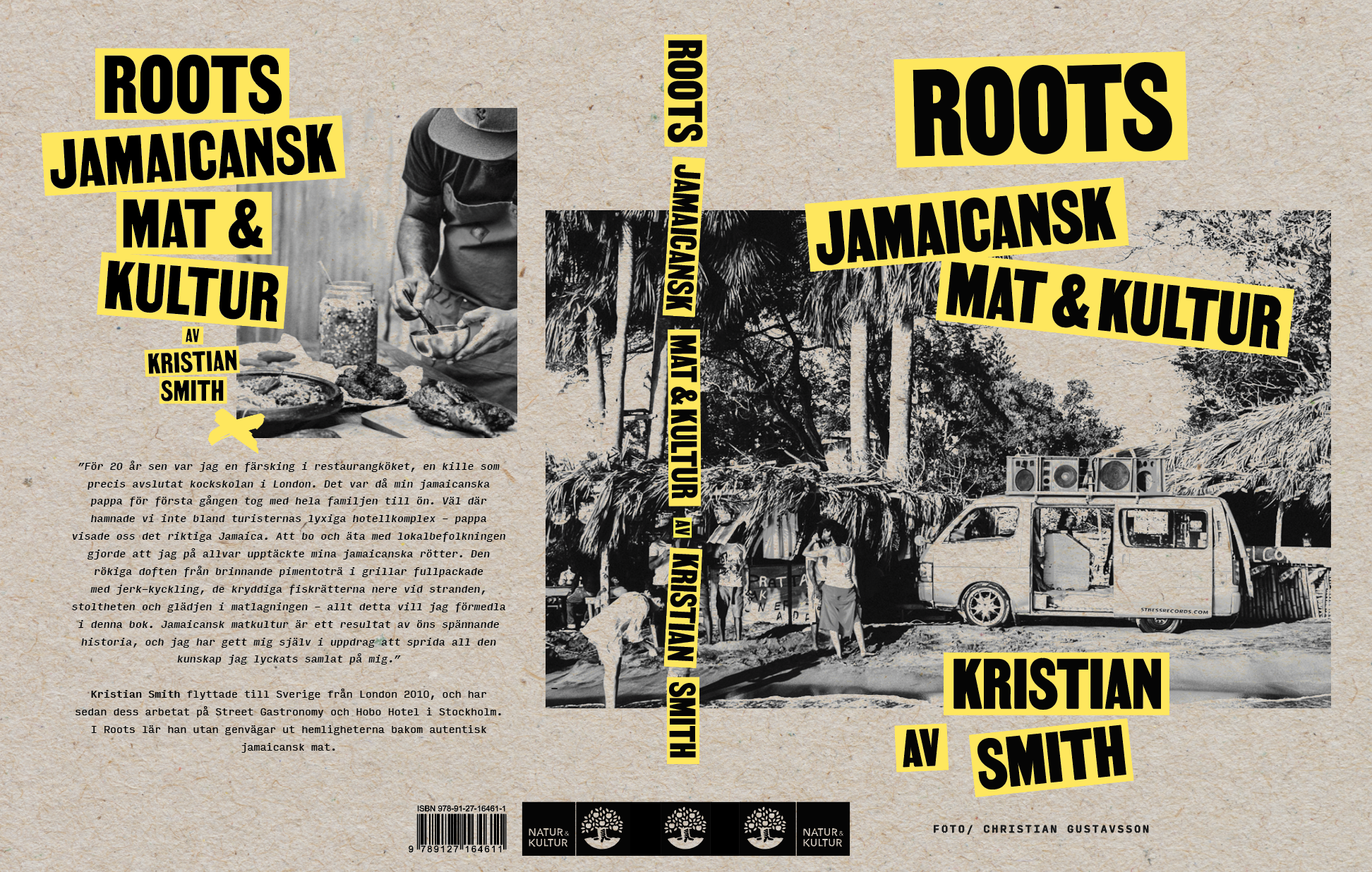 Kristian Smith and cookbook Roots & Jamaican food podcast.